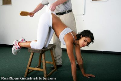 Real Spankings Institute - Spanked in Yoga Pants