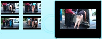 Spanked Coeds - Jenna, Daija & Maria: Roadside Belting