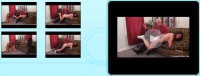 Spanked Coeds - Amber & Daija: Naked OTK Hand Spankings