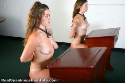 Real Spankings Institute - Rae and Maya Spanked by The Dean (Part 1 of 4)