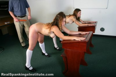 Real Spankings Institute - Rae and Maya Spanked by The Dean (Part 3 of 4)