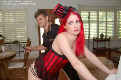 Firm Hand Spanking - Alison Miller - Costume Correction - B