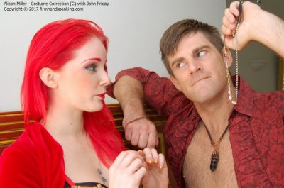 Firm Hand Spanking - Alison Miller - Costume Correction - C