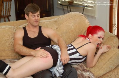 Firm Hand Spanking - Alison Miller - Costume Correction - D
