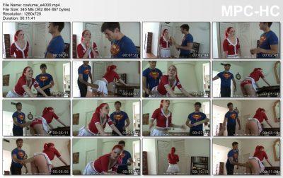 Firm Hand Spanking - Alison Miller - Costume Correction - E