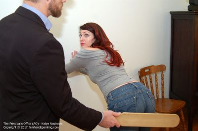 Firm Hand Spanking - Katya Nostrovia - Principal's Office - AO