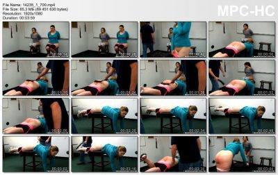 Real Spankings Institute - Spanked for Gym Infractions (Part 3 of 4)