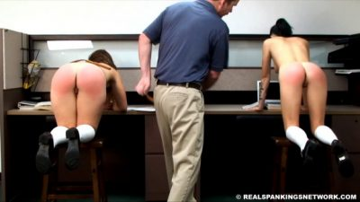 Real Spankings Institute - Maya and Rae Punished by The Dean (Part 3 of 4)
