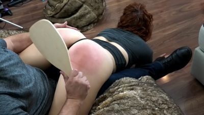 Maddy Marks Wheelbarrow Spank and Paddle - SpankFlix and Chill - 4