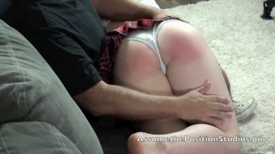 Willow's Extra Credit - Naughty Co-ed OTK Paddling for Poor Attendance
