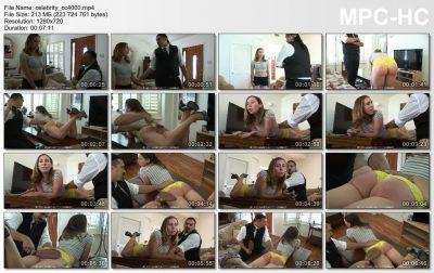 Firm Hand Spanking - Lilian White - Celebrity Brat - CC