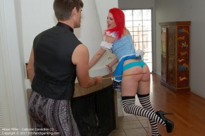Firm Hand Spanking - Alison Miller - Costume Correction - J