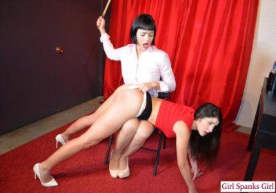 Girl Spanks Girl - Snow Mercy, Arielle Lane - Bad Secretary: Day One