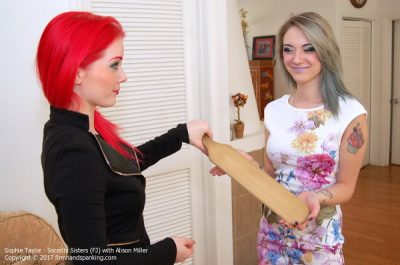 Firm Hand Spanking - Sophie Taylor - Sorority Sisters - FJ