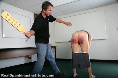 Real Spankings Institute - Abigail's Punishment from The Dean (Part 2 of 2)