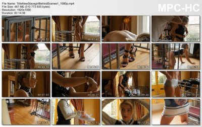 Restrained Elegance - Behind The Scenes: Tillie New Slavegirl Part One