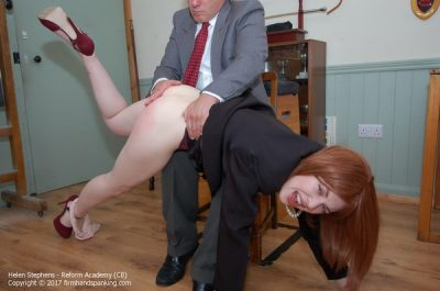 Firm Hand Spanking - Helen Stephens - Reform Academy - CB