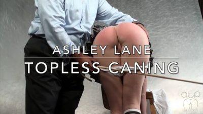 AssumethePositionStudios - Ashley Lane - Topless Schoolgirl Caning