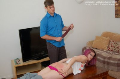 Firm Hand Spanking - Lisa Langley - Attitude Adjustment - DE