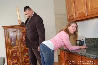 Firm Hand Spanking - Lilian White - Principals Office - AR