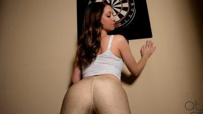 Chrissy Marie- Made for Spanking - Yoga Pants OTK