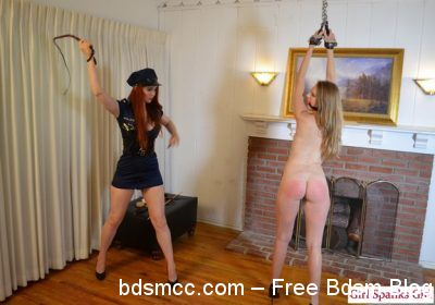 Girl Spanks Girl - Punished at the Border Part 2