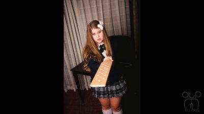 Sobbing Topless Schoolgirl Paddling- Christy Cutie