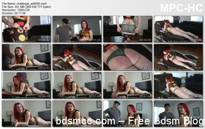 Firm Hand Spanking - Alison Miller - The Challenge - AD