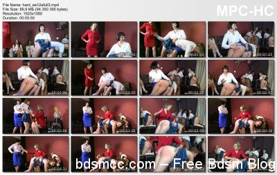 Girl Spanks Girl - Exclusive Education 12: Day One