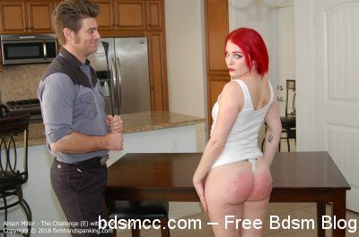 Firm Hand Spanking - Alison Miller - The Challenge - AE