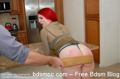 Firm Hand Spanking - Alison Miller - The Challenge - F