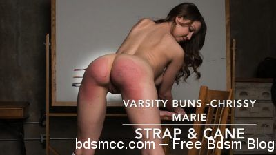 AssumethePositionStudios - Varsity Buns - Chrissy Marie - Strap and Cane
