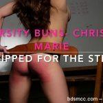 AssumethePositionStudios – Varsity Buns – Chrissy Marie- Stripped for the Strap