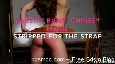 AssumethePositionStudios - Varsity Buns - Chrissy Marie- Stripped for the Strap