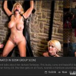 CrowdBondage – Curvy Blondie Fesser dominated in BDSM group scene