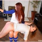 SpankingSororityGirls – Episode 160: Veronica Spanks Bully Ashley Lane