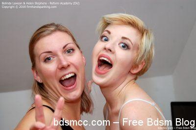 FirmHandSpanking - Belinda Lawson & Helen Stephens - Reform Academy - DU