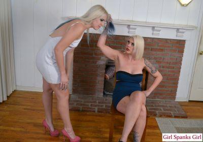 GirlSpanksGirl - Dria Spanked by Wife